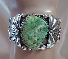 Native American ~ Natural Damale Turquoise Cuff, Sterling, Navajo, Vandever