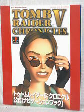 TOMB RAIDER V 5 CHRONICLES Official Navigation Guide PS Book 2001 SM85