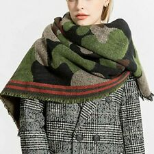 2019 New Women's Cashmere Camouflage Cashmere Scarf Winter Warm Shawl Cover CA