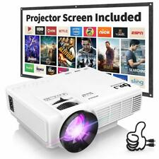 "Mini proyector compatible con 1080P con pantalla 170 "" 40,000 horas LED Full HD"