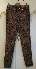 "Lacoste Live Ladies Leopard Print   Slim Fit Stretch Jeans BNWT Size W 27"" L 32"""