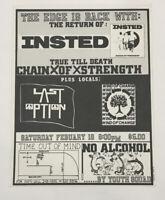 Original Vintage Punk Rock Concert Flyer Insted 1989 Tempe Arizona