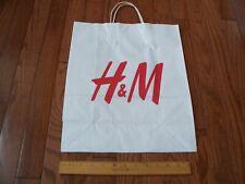 H&M Paper Bag, White, Large, New
