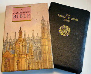 Cambridge Revised English Bible, Slip Case, French Morocco Leather, Scarce OOP