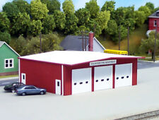 PIKESTUFF 192 HO FIRE STATION FIREHOUSE Model Railroad Building RED FREE SHIP