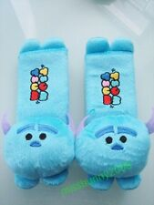 Disney Tsum Sulley Blue Plush Car Seat Belt Cover One Pair Free Shipping