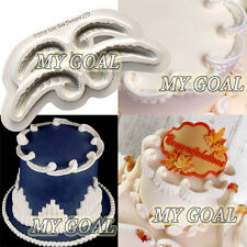 C SCROLL Royal Icing Border Silicone Fondant Mould Cake Decor Sugar Paste Mold