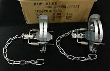 2 Bridger 1.65 off set coil spring trap trapping fox coyote raccoon survival