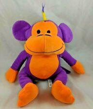 "Monkey Ape Chimp Plush Mohawk Head 13"" Purple Orange A&A Global Stuffed Animal"