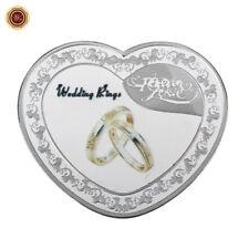 WR Hochzeitsring Forever Love Herzförmige silberne Gedenkmünze