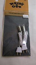 Heidi Ott Redondo dos bombillas de guisante con Cable & Enchufe, Casa De Muñecas En Miniatura De Iluminación