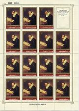 TIMBRE RUSSIA / RUSSIE / NEUF FEUILLE N° 4985 ** DE 15 TIMBRES ART / TABLEAUX