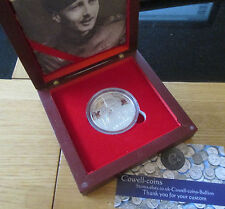 2006 SILVER PROOF £5 FIVE POUNDS VICTORIA CROSS GUERNSEY WILLIAM LEEFE ROBINSON