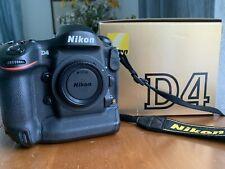 Nikon D4 16.2 MP Digital FX Full Frame Camera Body w/ Box - 8555 Shutter Count!