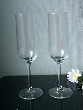 Set Of 2 Tall Champagne Flute Glasses Drinking Cups 200mL Clear Stem