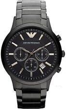 Emporio Armani AR2453 Classic All Black Ion-Plated Men's SS Bracelet Watch SALE!