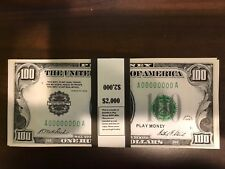 $2,000 In 1928 $100 Bills Federal Reserve Play Money Prop USA Actual Size 20 Pc