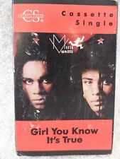 Milli Vanilli Girl You Know It's True Cassette Tape Single Vintage Pop Music