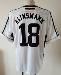 Germany 1998 - 2000 Home football Adidas shirt size XL #18 Klinsmann