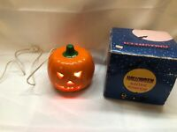United China & Glass Company Electric Pumpkin Vintage Ceramic Light Up Halloween