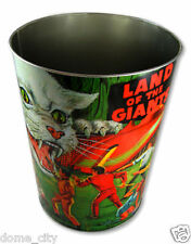 NEW! Land Of The Giants Metal Wastebasket! Retro Cool! Irwin Allen Spindrift
