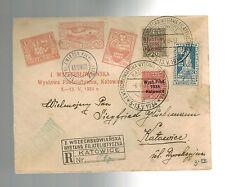 1934 Katowice Poland Philatelic Expostion Cover # 280-281