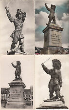Lot 4 cartes postales ancienne DUNKERQUE statue jean bart 4