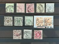 Wurttemberg 1875-1894, 13 stamps, used, with some good values