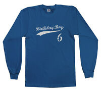 Threadrock Kids Birthday Boy 6 Year Old Youth Long Sleeve T Shirt Happy 6th Six
