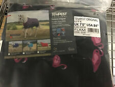 BRAND NEW 7ft Shires Tempest Lightweight No Fill Turnout Rug - Flamingo Print