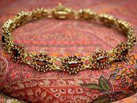 Vintage Goldarmband (333er 8K Gelbgold) mit Granaten