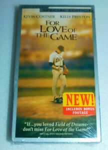 For Love Game VHS Kevin Costner Kelly Preston Baseball Drama Special Edition