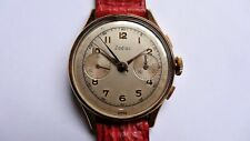 ZODIAC rose gold plated Chronograph vintage watch handwinding landeron
