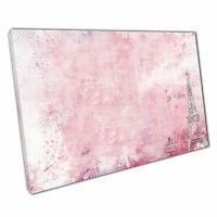 "Canvas Print Pink PARIS wall art Ready to Hang 30x20"""