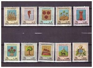s27648) DEALER STOCK SAN MARINO 1968 MNH** Stemmi 10v. Coat of Arms (X10 SETS)