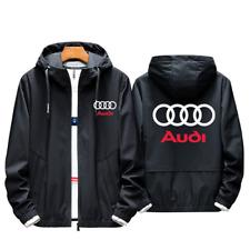 Mais Novo Lançamento! homens Audi fãs Casaco Jaqueta Com Capuz Esportivo Primavera Outono corrida equipe Tops