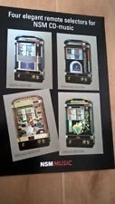 NSM CD Digital / Performer /  Heritage / Emerald Wallbox Remote Selector Flyer