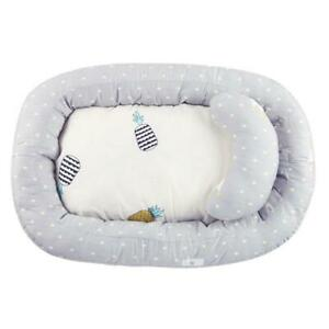 Portable Baby Nest Bed Crib Removable Washable Protect Cushion with Pillow