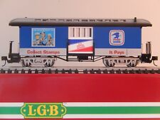 LGB, US MAIL BAGGAGE CAR, with 5volt lights and Kadee Couplers, ITEM 31840