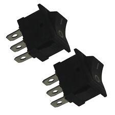 2x Black Round Rocker Toggle Car Boat Moto Switch SPST Wholesale 20556