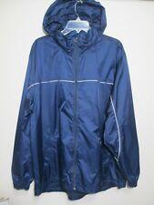 Footlocker Men Jacket Size Large Blue Nylon Hooded Windbreaker NEW