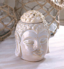 white Buddha ceramic statue candle holder Wax tart Oil warmer Burner diffuser
