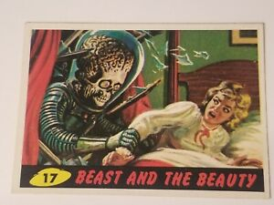 $1 an GO!😱💥1962 Mars Attacks #17 - BEAST AND THE BEAUTY