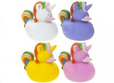 2x UNICORN RUBBER DUCK BATH SQUIRTER Toy Kids Baby Shower Duckie Favour Gift PMS