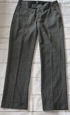 Filippa K Grey Marl Straight Leg Flat Front Cigarette Trousers XS Short Leg