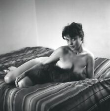 WW2 Photo WWII  World War Two Girl on Bed  World War Two Pinup / 8049