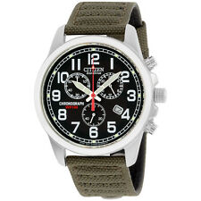 Citizen Chandler Black Dial Canvas Strap Men's Watch AT0200-05E