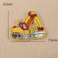 Excavator Embroidered Sew Iron On Patches Badge Fabric Clothes Applique Transfer