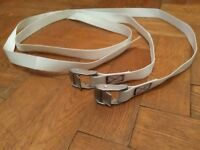 2pc Motorcycle Adventure/Overland luggage straps. Extra Heavy duty. (BMW straps)