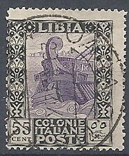 1921 LIBIA USATO PITTORICA 55 CENT - RR12690